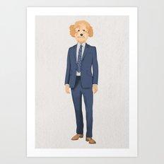 Posing Poodle Art Print