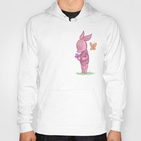 piglet Hoodies featuring Spring Piglet by MindyLouHagan