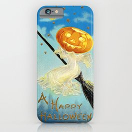 Happy Halloween Pumpkin Witch iPhone Case