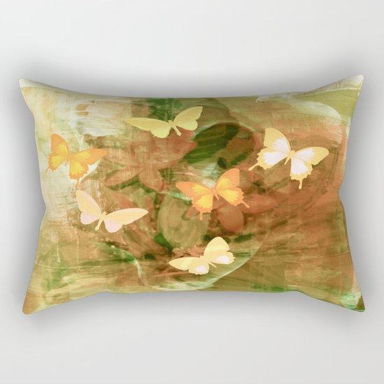 Vintage Autumn Painterly Butterflies  Rectangular Pillow