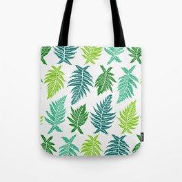 Inked Ferns – Green Palette Tote Bag