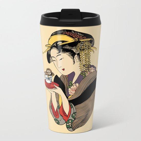 Tea Time with Sloth Metal Travel Mug