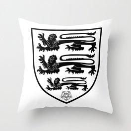 British Three Lions Crest Throw Pillow