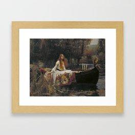 John William Waterhouse The Lady Of Shallot Original Painting Framed Art Print