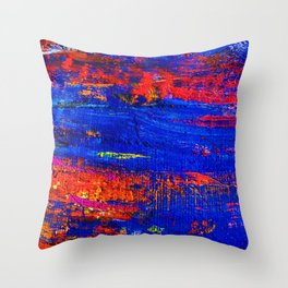 (N10) Abstract Epic Colored Moroccan Artwork. Throw Pillow