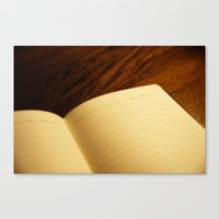 notebook Canvas Prints featuring Blank notebook by Nazar N.