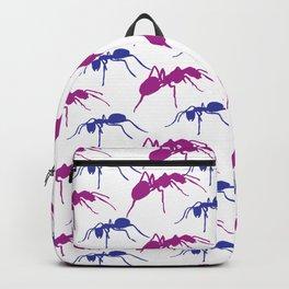 Purple Ants Blue Insects Art #decor #society6 #buyart Art Print Backpack