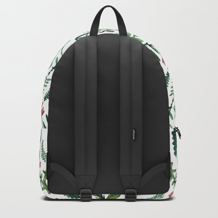 white pure nature Backpack