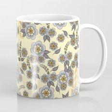 Golden floral with silver on beige Mug