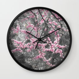 Under The Redbud Tree Wall Clock