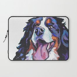 Berner Bernese Mountain Dog Portrait Pop Art painting by Lea Laptop Sleeve