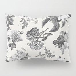 Vintage flowers on cream blackground Pillow Sham