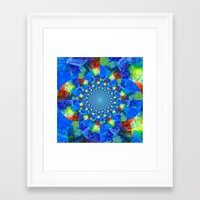 kaleidoscope Framed Art Prints featuring Kaleidoscope  by haroulita