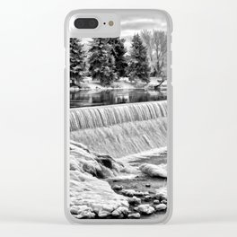 Idaho Falls - Winter Day Clear iPhone Case
