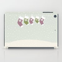 socks iPad Cases featuring Christmas Socks by rusanovska