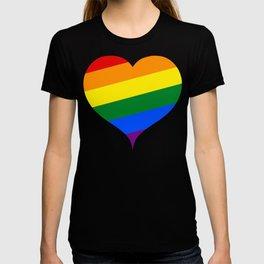 LGBT Rainbow Heart T-shirt