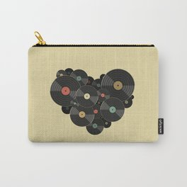 Heart of a Vinyl Lover Carry-All Pouch