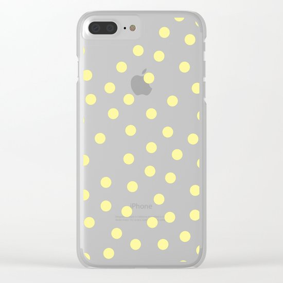 Simply Dots in Pastel Yellow Clear iPhone Case