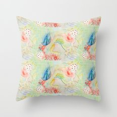 octopus monster Throw Pillow
