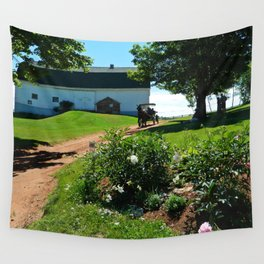 Horse Drawn Carriage on Farm in PEI Wall Tapestry