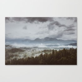 Misty mountains - Landscape and Nature Photography Canvas Print