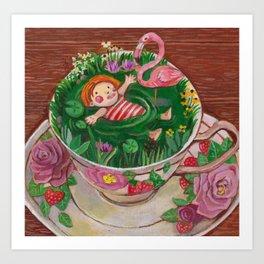 Teacup Bathers 02 Art Print