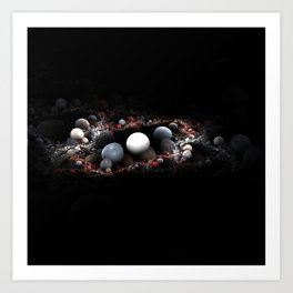3D Pebbles Art Print
