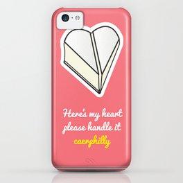 Cheesy Hearts - Caerphilly iPhone Case