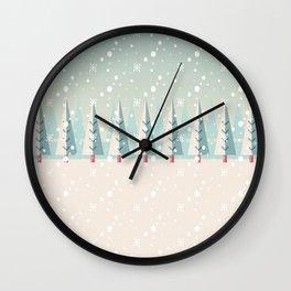 Festive Moments - Christmas woods Wall Clock