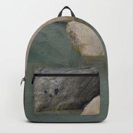Green Water Rock Pool Backpack