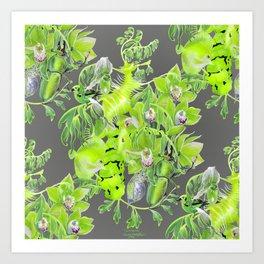 Chartreuse pattern Art Print