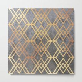 Glam Geometric Metal Print