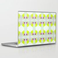 polygon Laptop & iPad Skins featuring Polygon Neon by ARTDROID