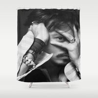 johnny depp Shower Curtains featuring Johnny depp  2016  , Johnny depp  2016  games, Johnny depp  2016  blanket by Eirarose