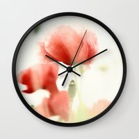 poppies Wall Clocks featuring Poppies by Falko Follert Art-FF77
