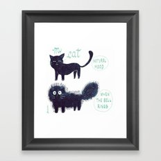 The scary sound of the bell Framed Art Print