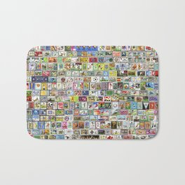 Soccer Stamps Bath Mat