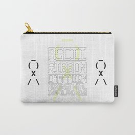 ASCII Ribbon Campaign against HTML in Mail and News – White Carry-All Pouch