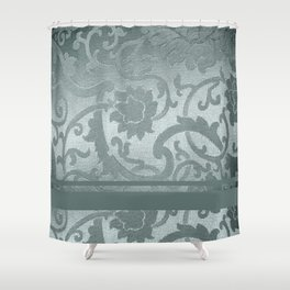 FLORAL SHADOW TAPESTRY | silver Shower Curtain