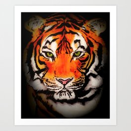 Tiger in the Shadows Art Print