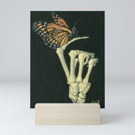 Butterfly & Bones Mini Art Print