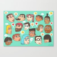 emoji Canvas Prints featuring emoji talk by Hugo Lucas