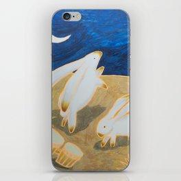 Bongo Bunnies Dancing in the Moonlight iPhone Skin