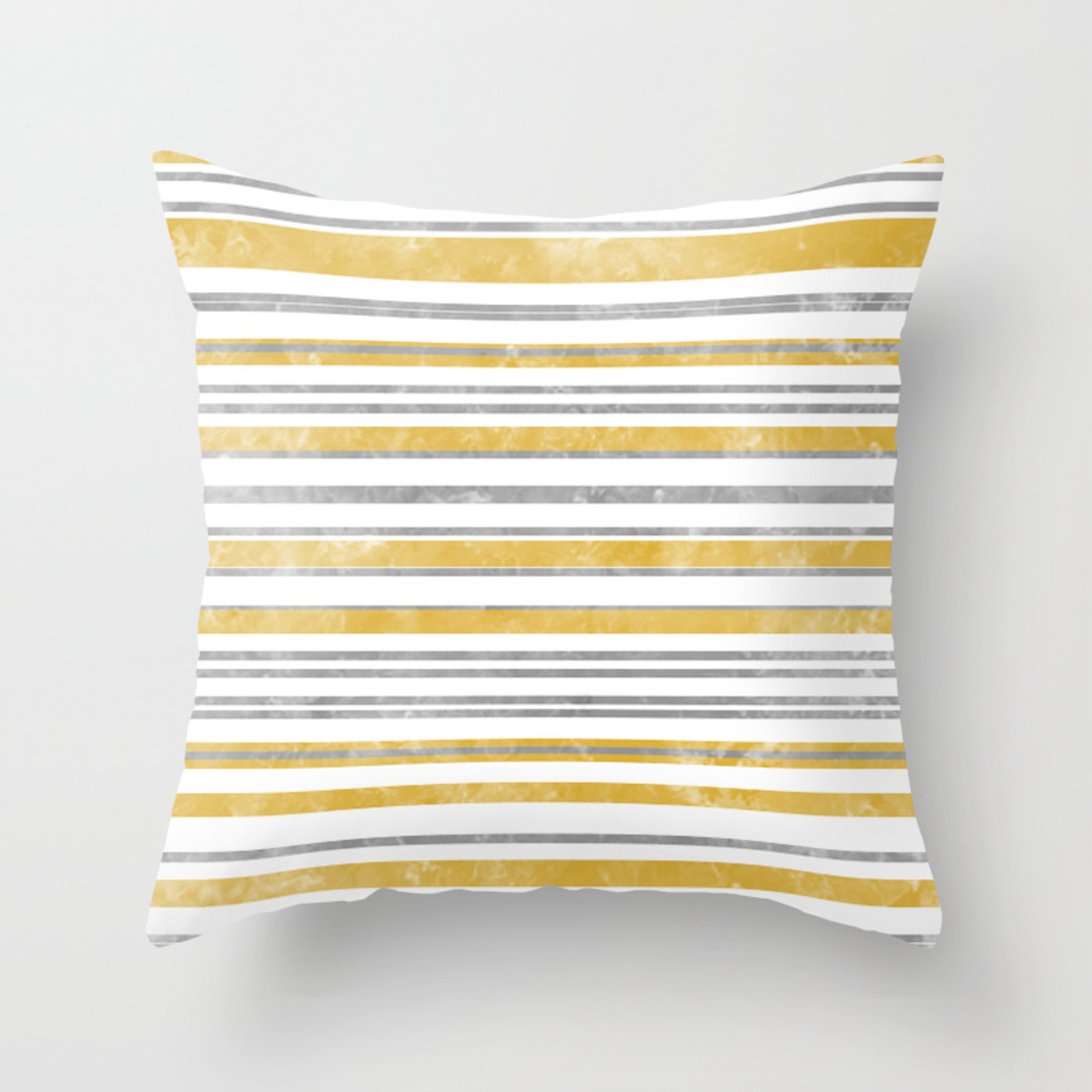 Sun Kissed Stripes: Silver and Gold Throw Pillow by katmun | Society6
