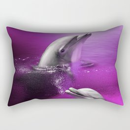 Delightful Dolphins Rectangular Pillow