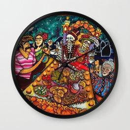 Buffet nel dìa de los muertos Wall Clock