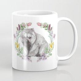 Wombat in Floral Wreath Coffee Mug