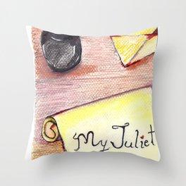Romeo's Letter Throw Pillow