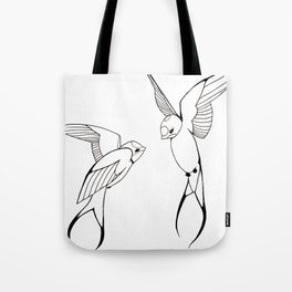Lovebirds-Swallows Tote Bag