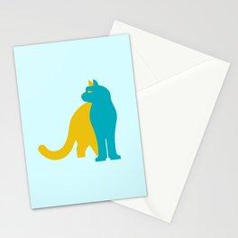 Snow leopard - Kazakhstan national symbol, flag colors Stationery Cards